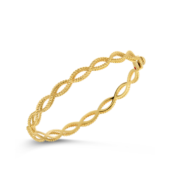 18KT GOLD 1 ROW BANGLE