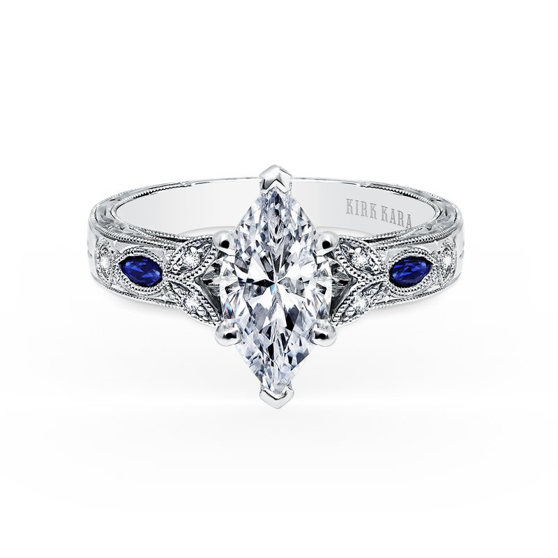 Sapphire Marquise Diamond Engagement Ring