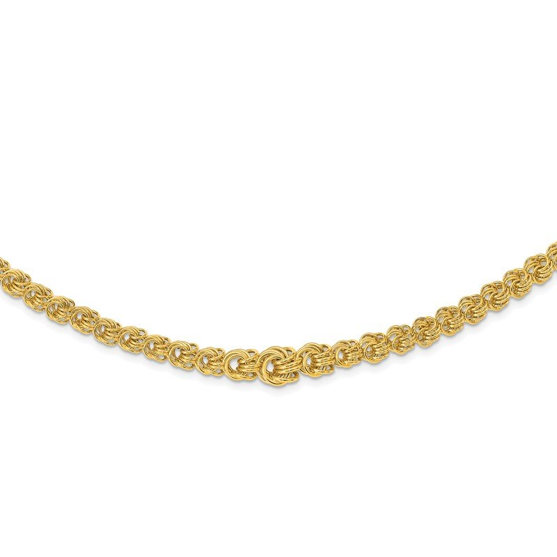 Quality Gold 14k Fancy 7-11mm Graduated Multi-Link Necklace