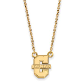 Gold-Plated Sterling Silver College of Charleston NCAA Necklace