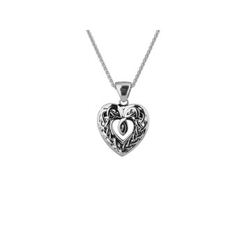 Celtic Open Heart Pendant Small