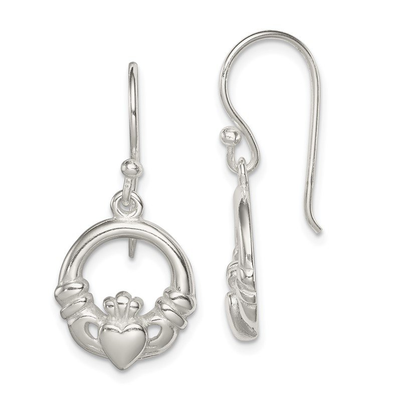 JC Sipe Essentials Sterling Silver Claddagh Dangle Earrings
