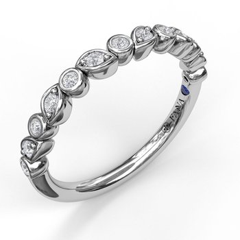 Opposing Marquise Diamond Band