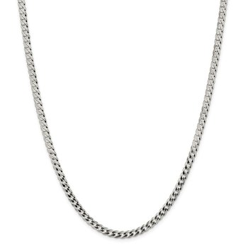 Sterling Silver 4.5mm Flat Curb Chain