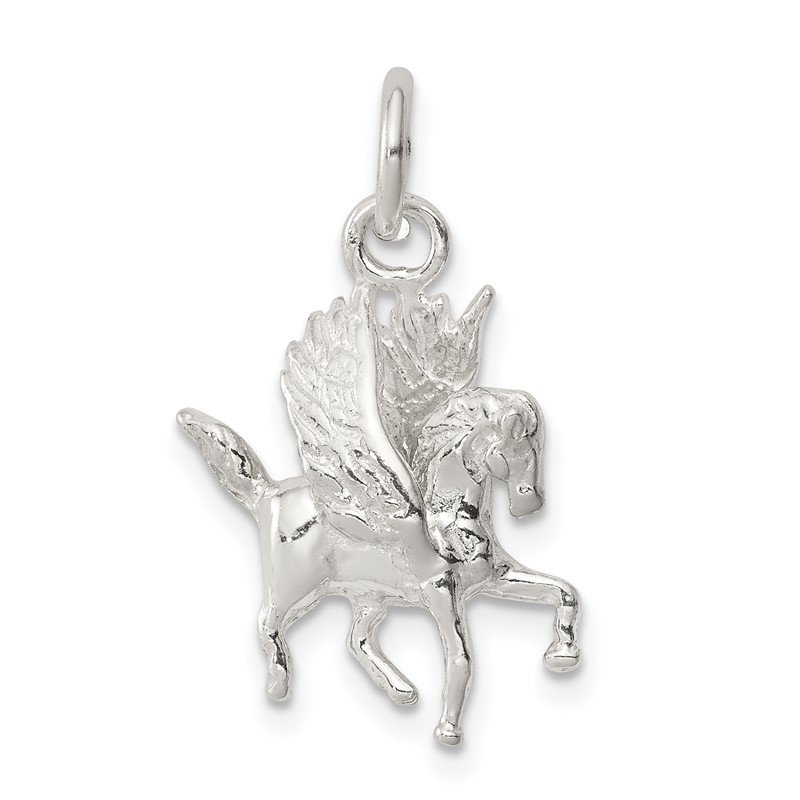 Quality Gold Sterling Silver Pegasus Charm