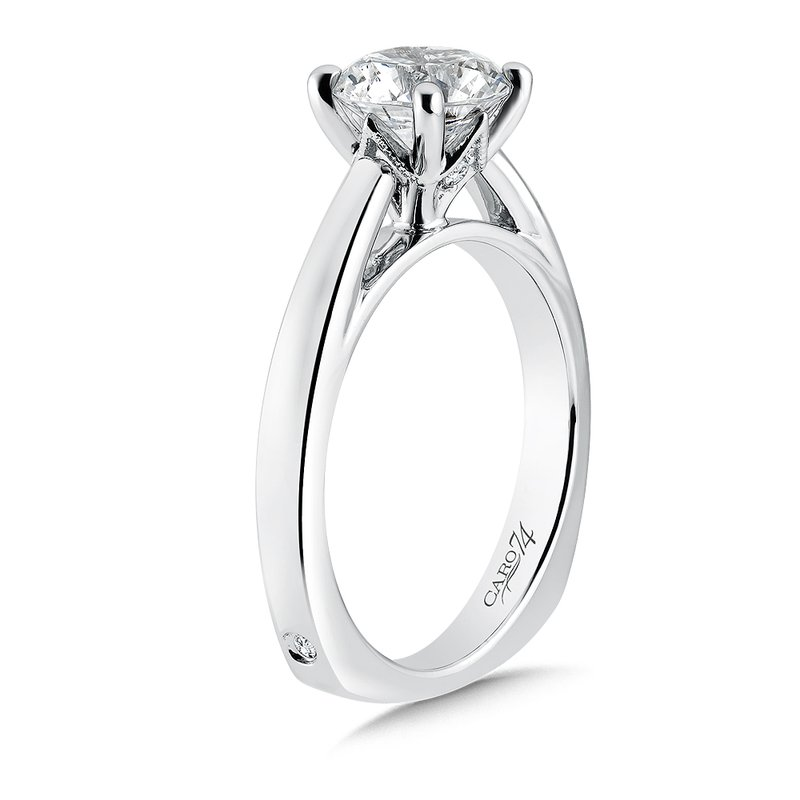 Caro74 Solitaire Engagement Ring in 14K White Gold with Platinum Head (1-1/2ct. tw.)