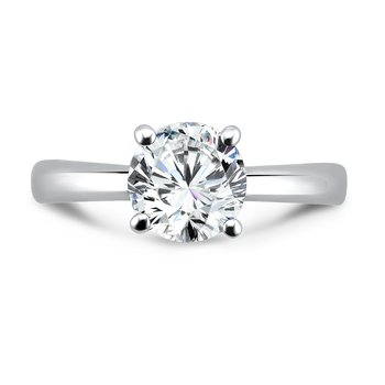 Solitaire Engagement Ring in 14K White Gold with Platinum Head (1-1/2ct. tw.)