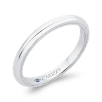 Carizza Plain Wedding Band In 14K White Gold