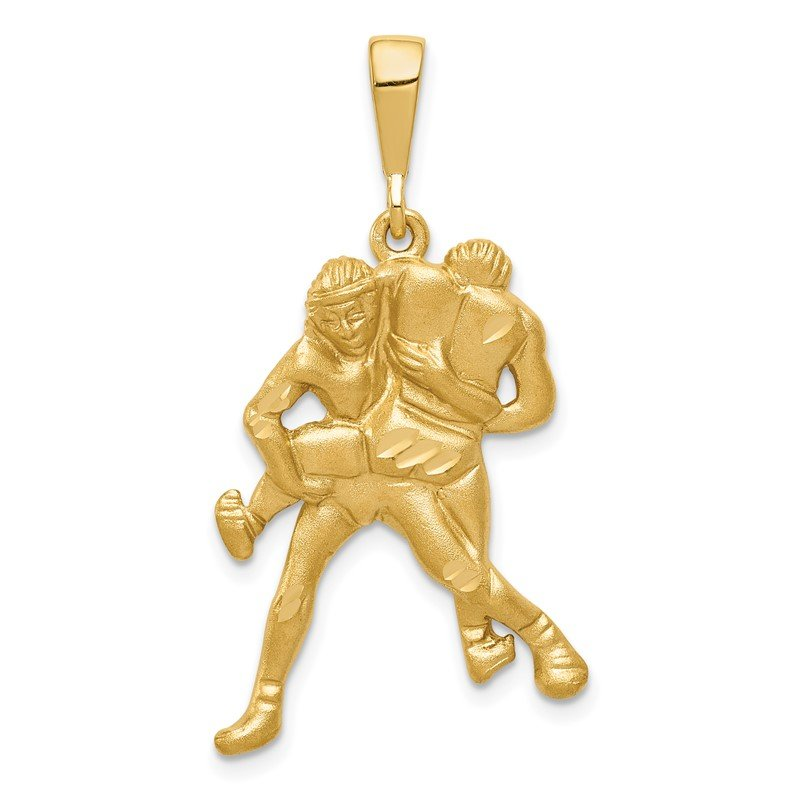 Quality Gold 14K Satin/DC Wrestlers Charm