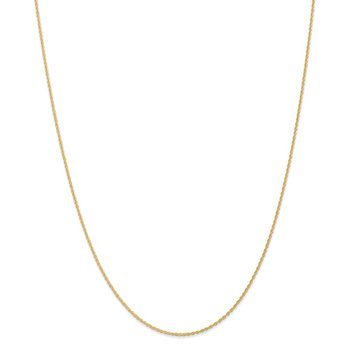 14k 1.1mm Baby Rope Chain