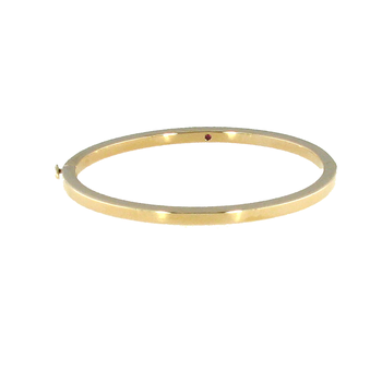 18KT GOLD CLASSIC OVAL BANGLE