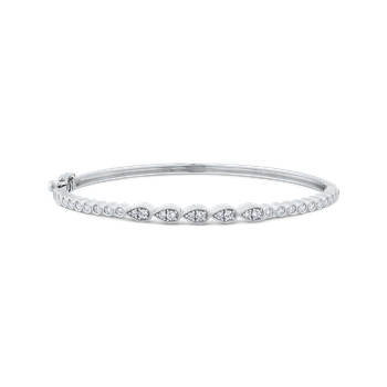 Round Cut Diamond Bangle Bracelet