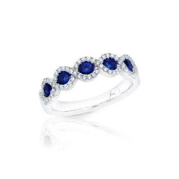 Hold Me Close Sapphire and Diamond Twist Ring