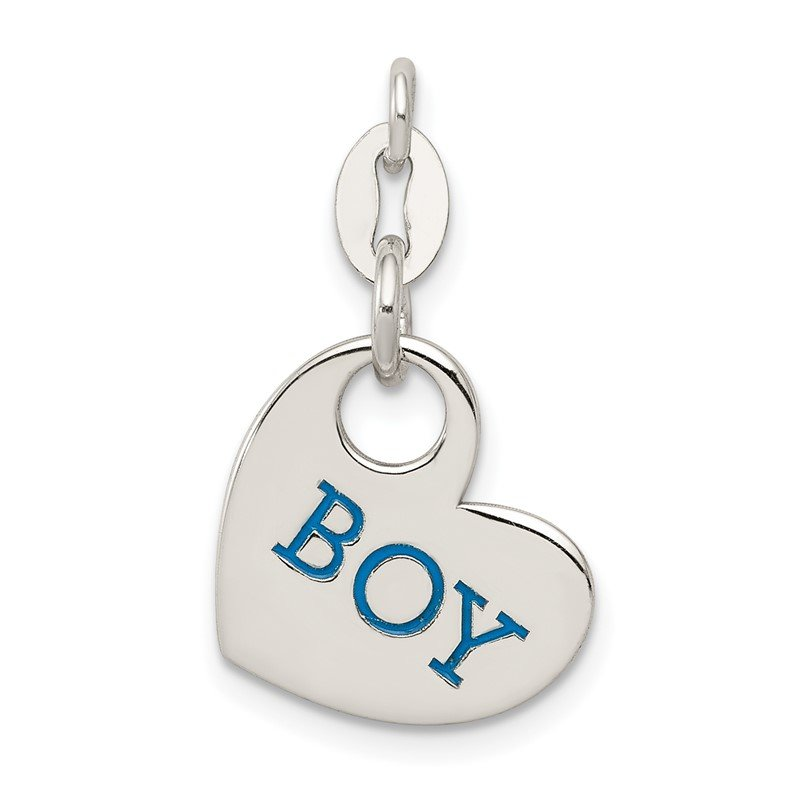 Quality Gold Sterling Silver Polished Enamel Boy Charm
