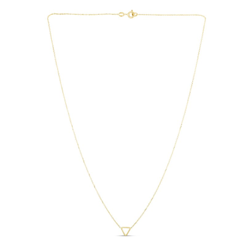 Royal Chain 14K Gold Mini Open Triangle Necklace