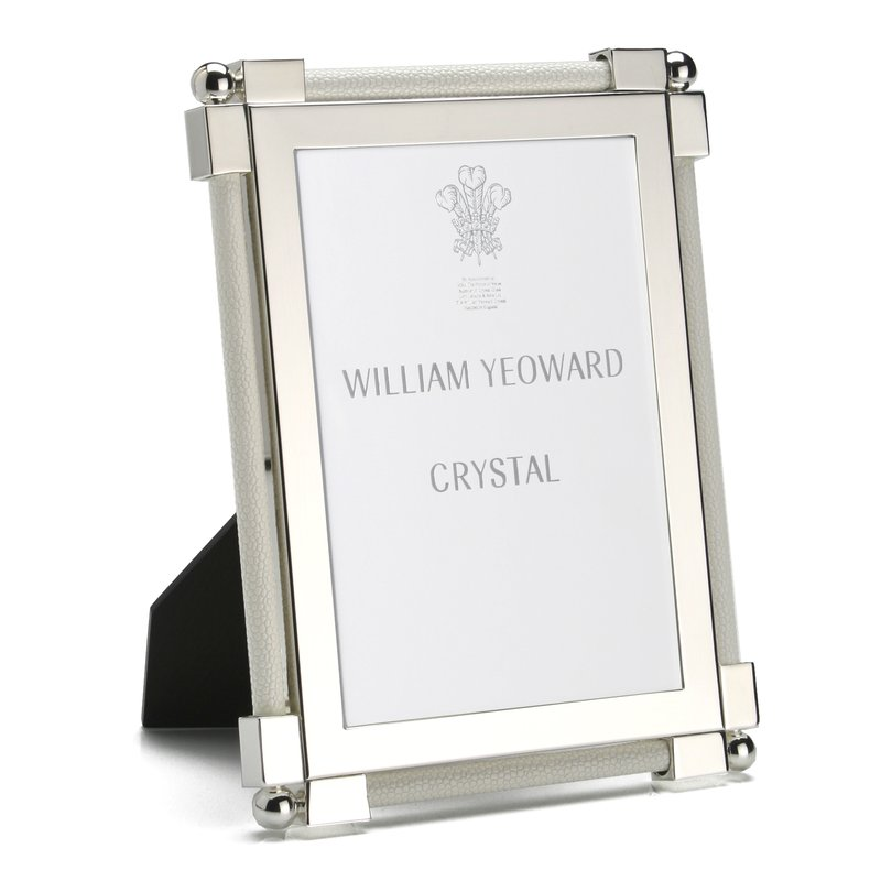 "William Yeoward Classic Shagreen White 5"" x 7"""