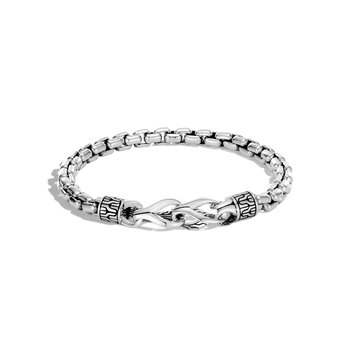 Asli Classic Chain Link 6MM Box Bracelet in Silver
