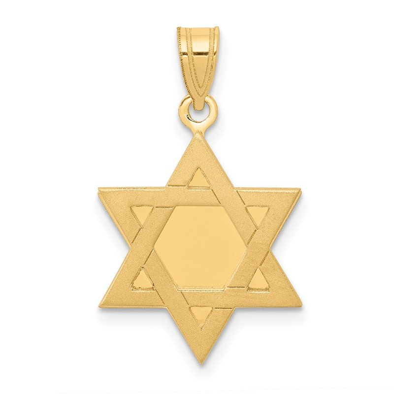 Quality Gold 14k Star of David Pendant