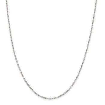 Sterling Silver 1.5mm Open Elongated Link Chain Anklet