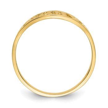 14k Polished Baby Ring