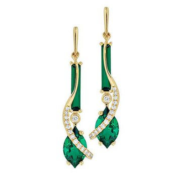 Emerald Earrings-CE4182YEM