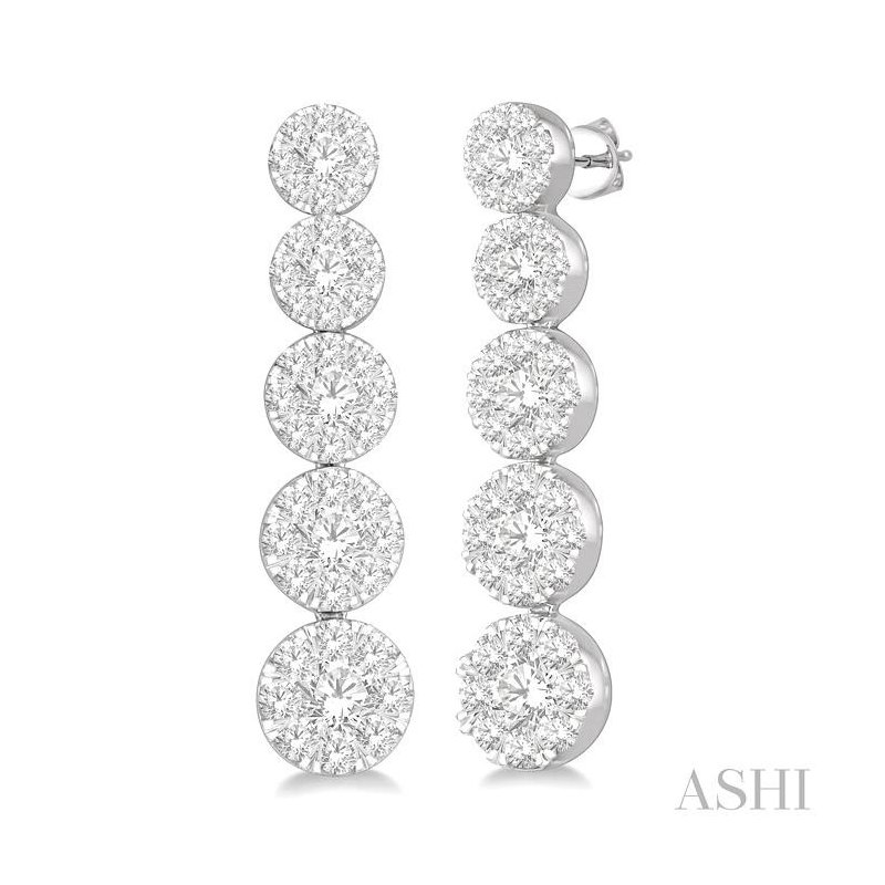 Barclay's Signature Collection lovebright essential journey diamond earrings