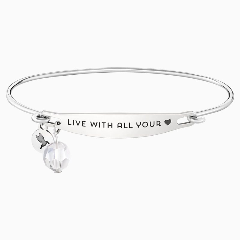 Swarovski Live With All Your Heart ID Bangle
