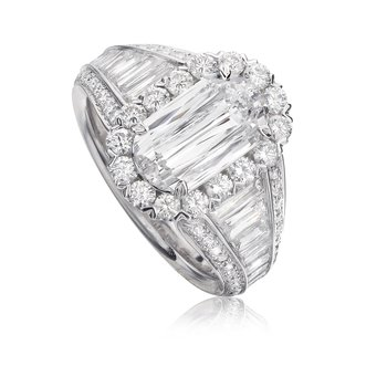 Crisscut Diamond Engagement Ring