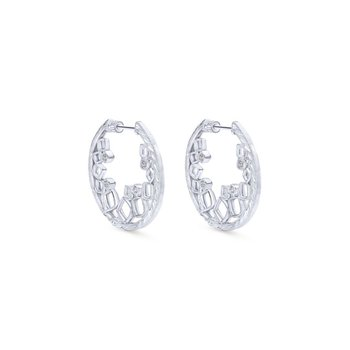 925 Silver Hoops Earrings