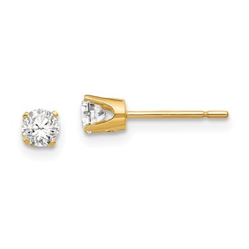 14k 3.5mm CZ stud earrings