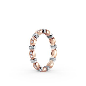 Two Tone Diamond Eternity Wedding Band