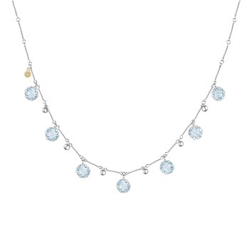 Multi-Gem Drop Necklace featuring Sky Blue Topaz