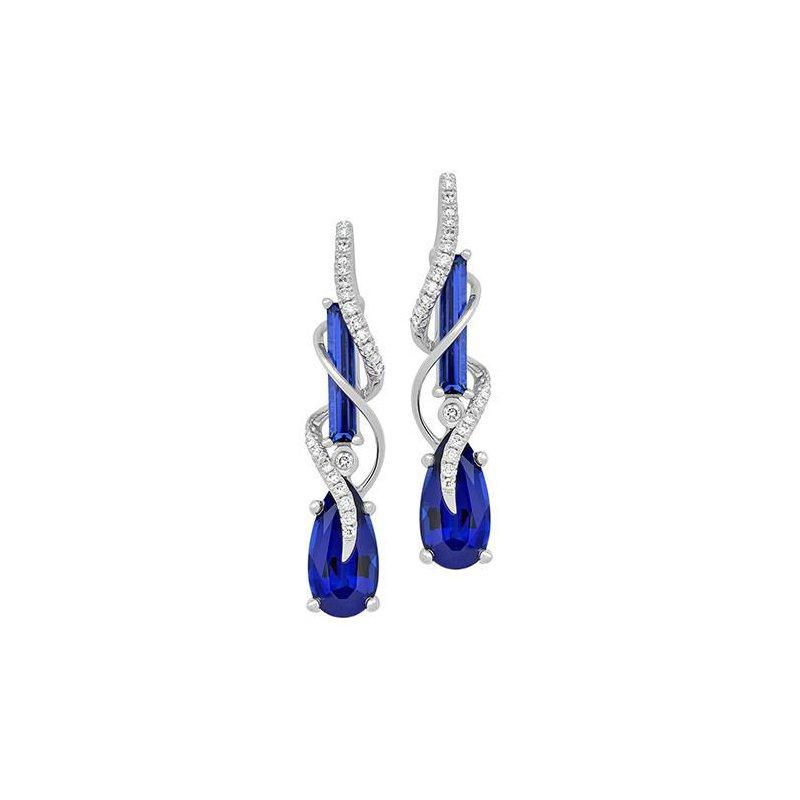 d1023e394 Chatham Blue Sapphire Earrings-CE4151WBS. Stock # CE4151WBS
