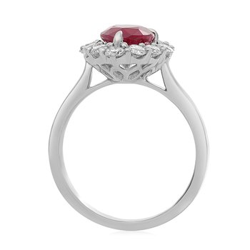 Pear-shaped Ruby & Diamond Ring