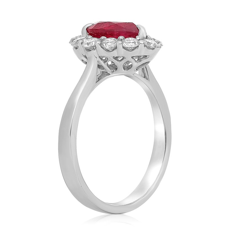Roman & Jules Pear-shaped Ruby & Diamond Ring