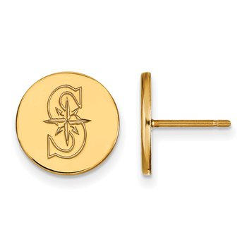 Gold-Plated Sterling Silver Seattle Mariners MLB Earrings