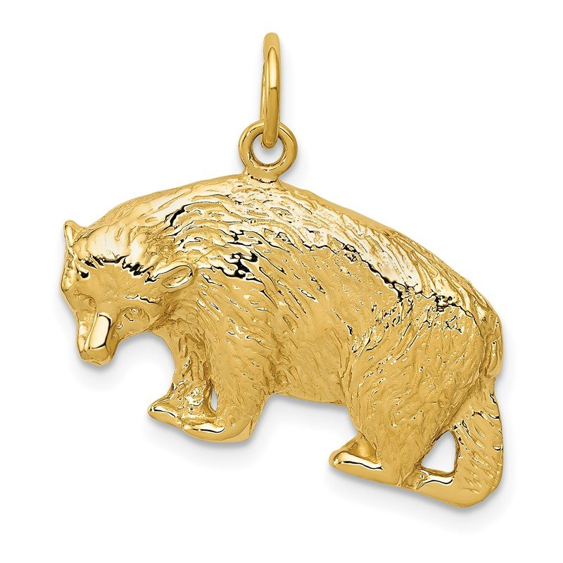 Arizona Diamond Center Collection 14k Bear Charm