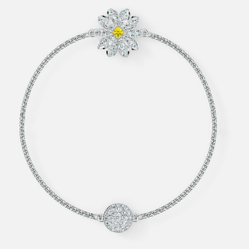 Swarovski Remix Collection Flower Strand, White, Rhodium plated