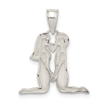 Sterling Silver Man & Woman Charm