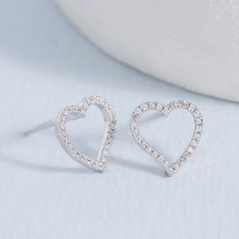Take Heart Sterling Silver Earrings