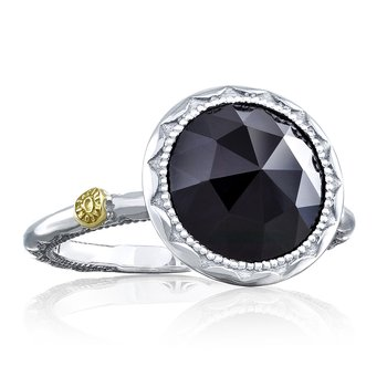 Crescent Bezel Ring featuring Black Onyx