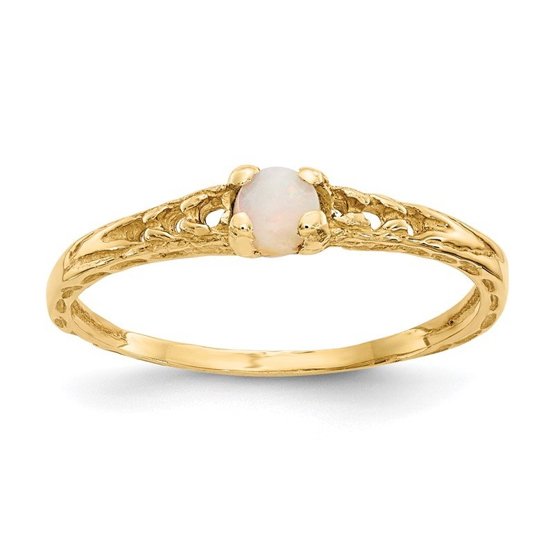 Quality Gold 14k Madi K 3mm Opal Birthstone Baby Ring