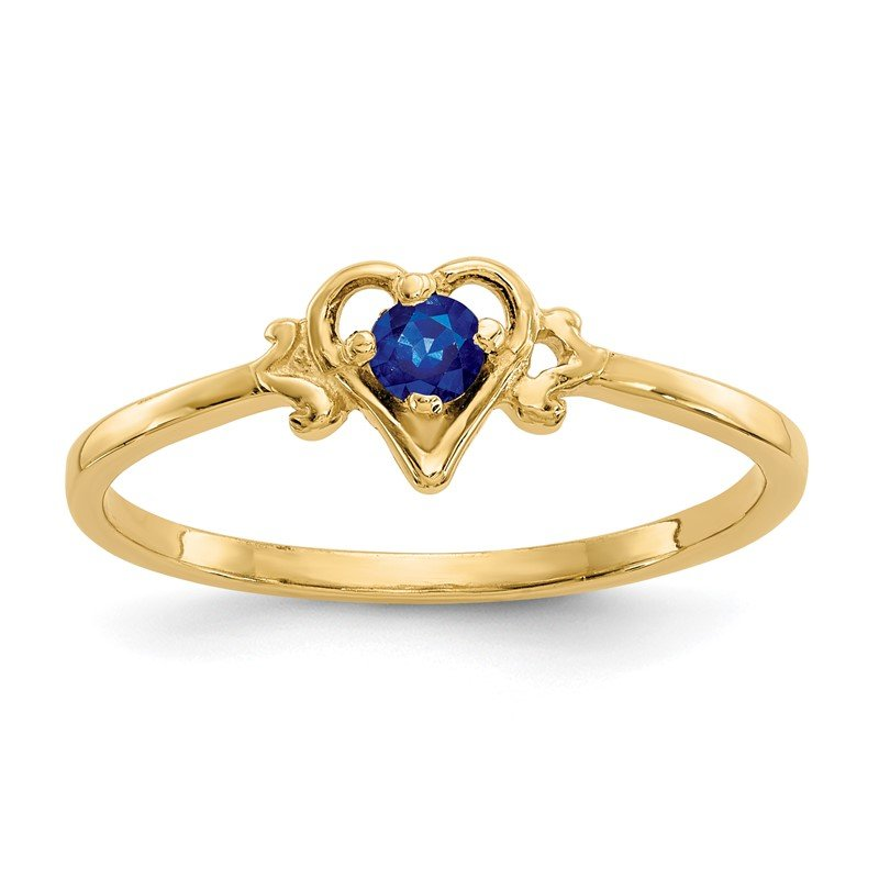 Quality Gold 14K Sapphire Birthstone Heart Ring