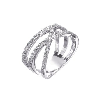 White Gold & Diamond Orbit Ring