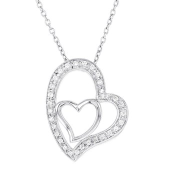 Sterling Silver 1/6ct Diamond Heart Necklace
