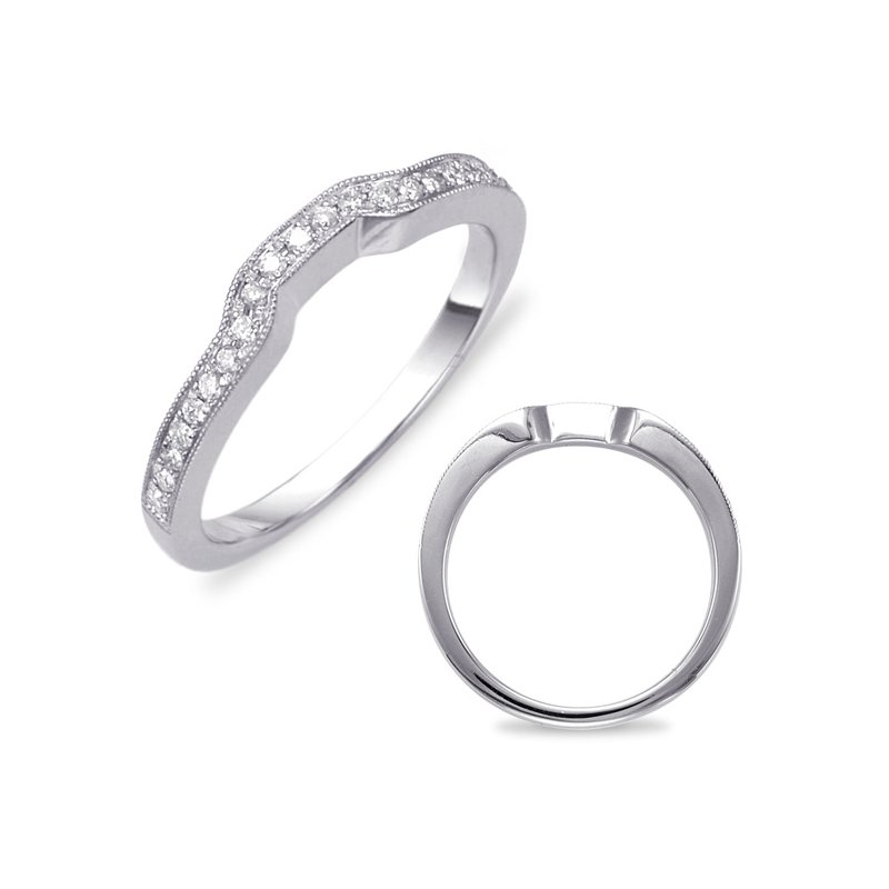 S. Kashi & Sons Bridal White Gold Pave Wedding Band