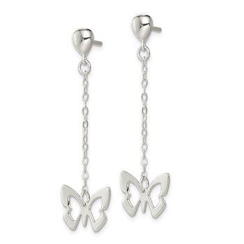 Sterling Silver Butterfly Dangle Posts