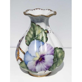 Purple Pansy Bud Vase