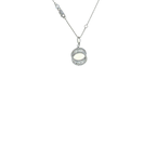 Roberto Coin 18Kt White Gold Diamond Necklace