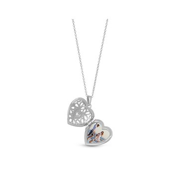 Katharine Locket Necklace Silver
